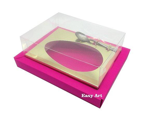 Caixa para Ovos de Colher 250g Pink / Dourado