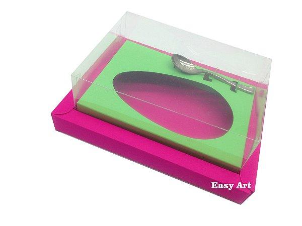 Caixa para Ovos de Colher 250g Pink / Verde Pistache