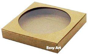 Caixa para Biscoitos / Porta Copos - Marrom claro - Pct com 10 Unidades