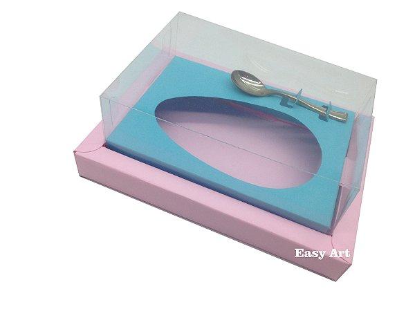 Caixa para Ovos de Colher 250g Rosa Claro / Azul Tiffany