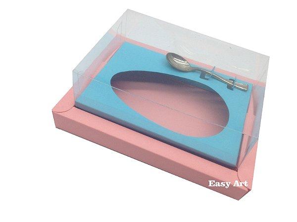 Caixa para Ovos de Colher 250g Salmão / Azul Tiffany