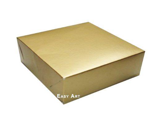 Caixa para Presentes ou 56 Doces - Dourado Brilhante