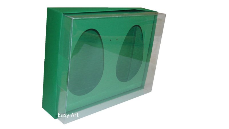 Caixas 2 Ovos de Colher de 500g Cada - Verde Bandeira