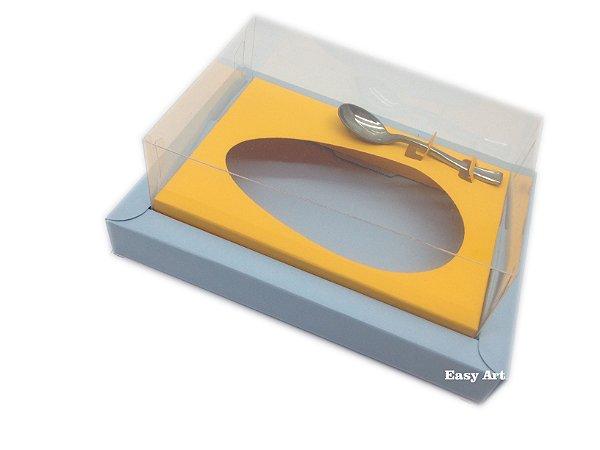 Caixa para Ovos de Colher 500g - Azul Claro / Laranja Claro