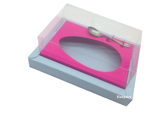 Caixa para Ovos de Colher 500g - Azul Claro / Pink