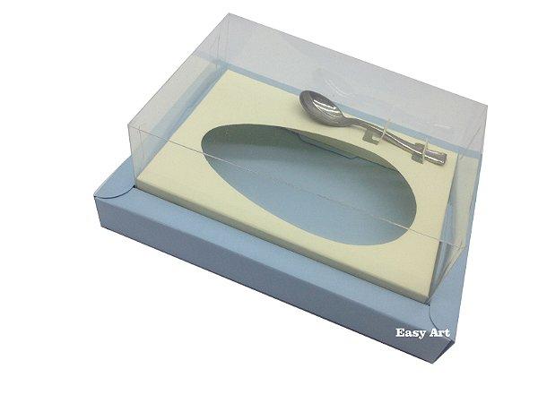 Caixa para Ovos de Colher 500g - Azul Claro / Marfim