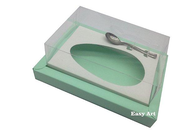 Caixa para Ovos de Colher 250g Verde Claro / Branco