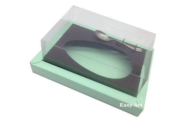 Caixa para Ovos de Colher 250g Verde Claro / Marrom
