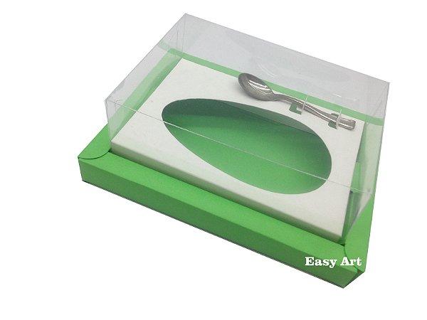Caixa para Ovos de Colher 250g Verde Pistache / Branco