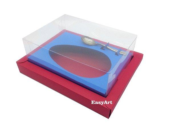 Caixa para Ovos de Colher 250g Vermelho / Azul Turquesa