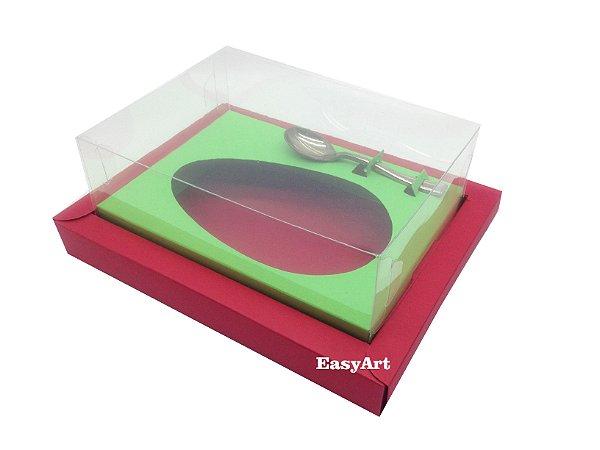 Caixa para Ovos de Colher 250g Vermelho / Verde Pistache