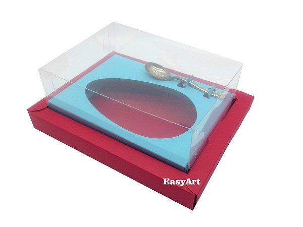 Caixa para Ovos de Colher 250g Vermelho / Azul Tiffany