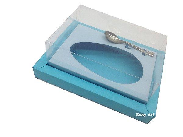 Caixa para Ovos de Colher 500g Azul Tiffany / Azul Claro