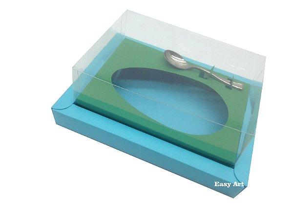 Caixa para Ovos de Colher 500g Azul Tiffany / Verde Bandeira