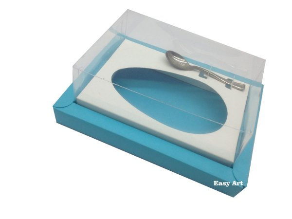 Caixa para Ovos de Colher 500g Azul Tiffany / Branco