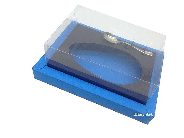 Caixa para Ovos de Colher 500g Azul Turquesa / Preto