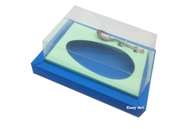 Caixa para Ovos de Colher 500g Azul Turquesa / Verde Claro