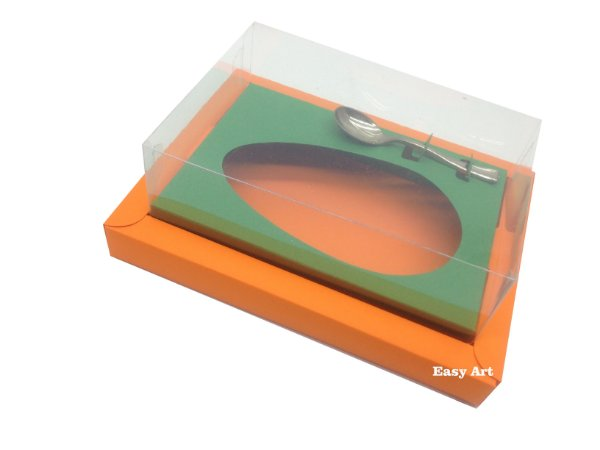 Caixa para Ovos de Colher 500g Laranja / Verde Bandeira