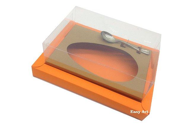 Caixa para Ovos de Colher 500g Laranja / Marrom Claro