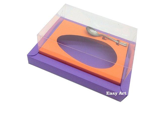 Caixa para Ovos de Colher 250g Lilás / Laranja
