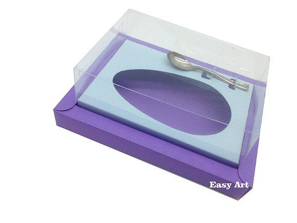 Caixa para Ovos de Colher 500g Lilás / Azul Claro