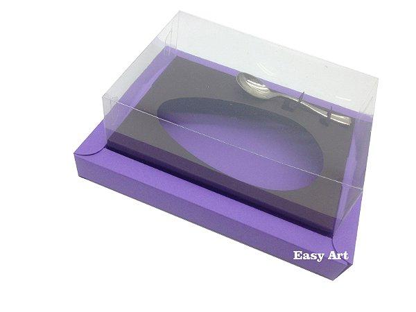 Caixa para Ovos de Colher 500g Lilás / Marrom