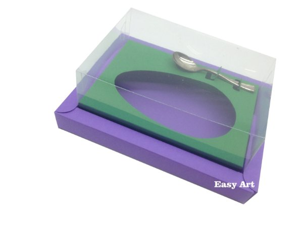 Caixa para Ovos de Colher 500g Lilás / Verde Bandeira