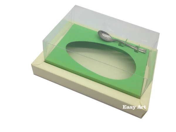 Caixa para Ovos de Colher 500g Marfim / Verde Pistache