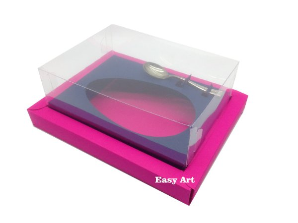 Caixa para Ovos de Colher 500g Pink / Azul Marinho