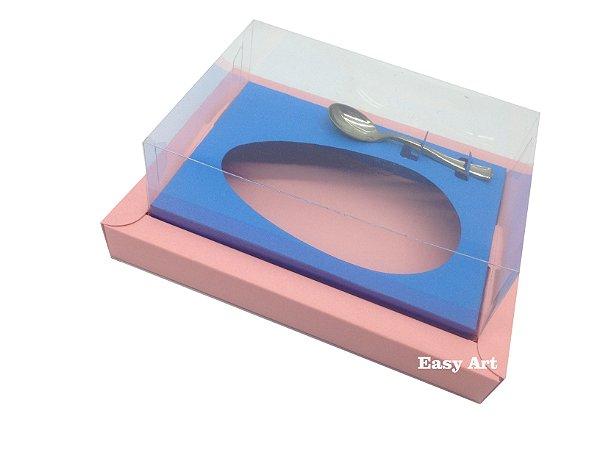 Caixa para Ovos de Colher 500g Salmão / Azul Turquesa