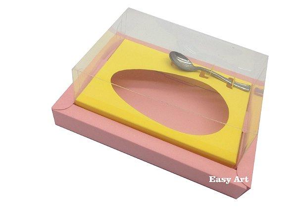 Caixa para Ovos de Colher 500g Salmão / Amarelo