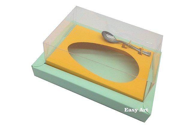 Caixa para Ovos de Colher 500g Verde Claro / Laranja Claro