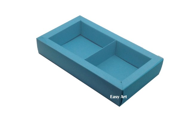 Caixa para 02 ou 03 Sabonetes / Azul Tiffany
