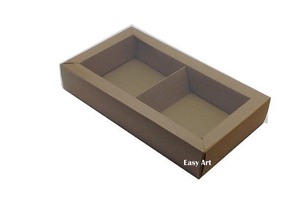 Caixa para 02 ou 03 Sabonetes / Marrom Claro