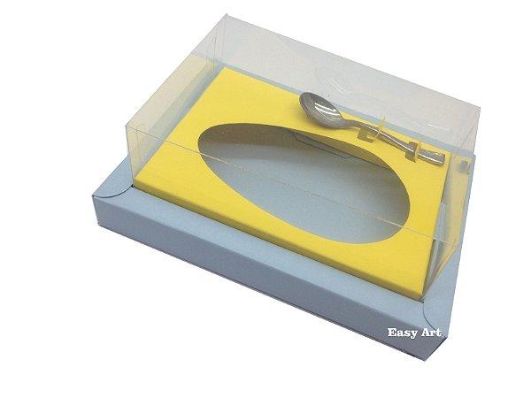 Caixa para Ovos de Colher 350g - Azul Claro / Amarelo