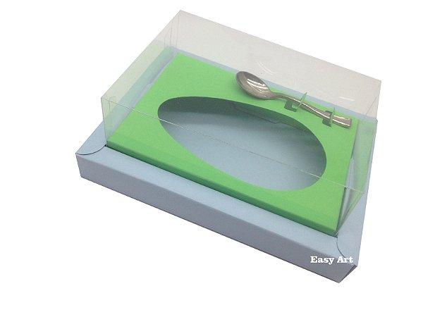 Caixa para Ovos de Colher 350g - Azul Claro / Verde Pistache