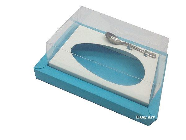 Caixa para Ovos de Colher 350g Azul Tiffany / Branco