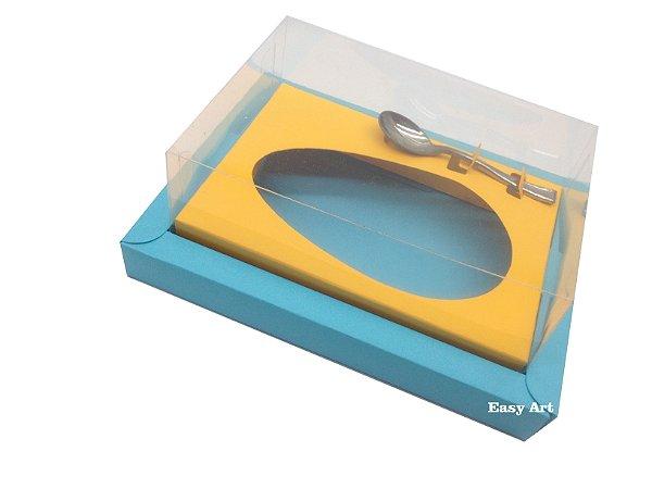 Caixa para Ovos de Colher 350g Azul Tiffany / Laranja Claro