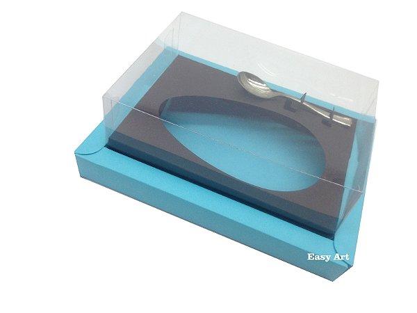 Caixa para Ovos de Colher 350g Azul Tiffany / Marrom