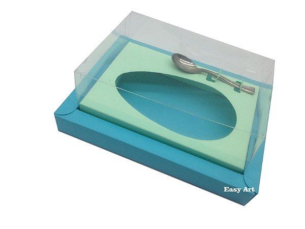 Caixa para Ovos de Colher 350g Azul Tiffany / Verde Claro