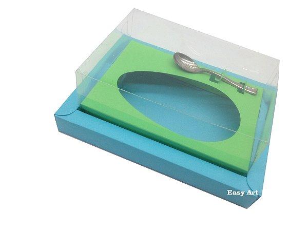 Caixa para Ovos de Colher 350g Azul Tiffany / Verde Pistache