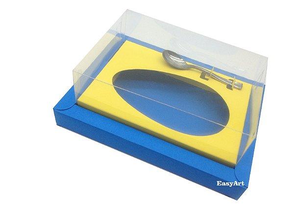 Caixa para Ovos de Colher 350g Azul Turquesa / Amarelo