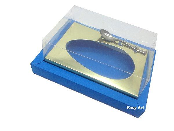 Caixa para Ovos de Colher 350g Azul Turquesa / Dourado