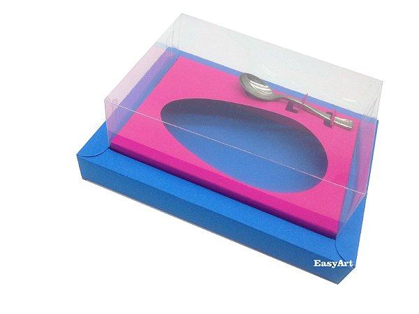 Caixa para Ovos de Colher 350g Azul Turquesa / Pink