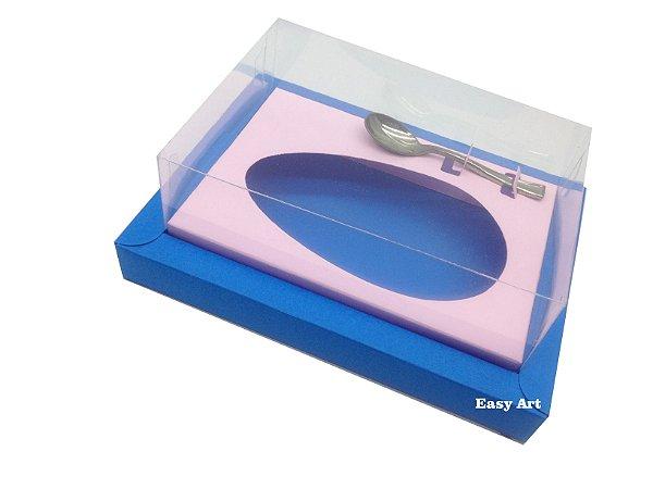 Caixa para Ovos de Colher 350g Azul Turquesa / Rosa Claro