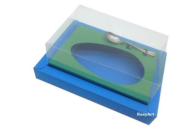 Caixa para Ovos de Colher 350g Azul Turquesa / Verde Bandeira