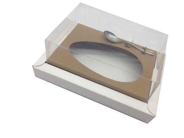 Caixa para Ovos de Colher 350g Branco / Marrom Claro