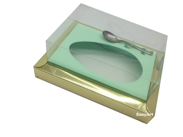 Caixa para Ovos de Colher 350g Dourado / Verde Claro