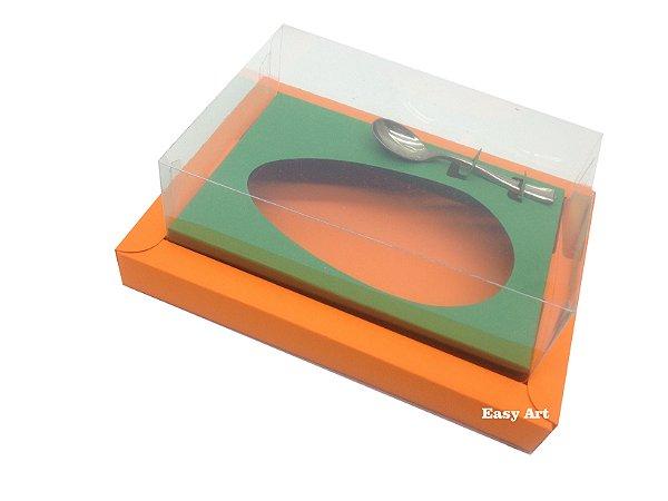 Caixa para Ovos de Colher 350g Laranja / Verde Bandeira
