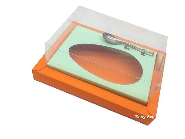 Caixa para Ovos de Colher 350g Laranja / Verde Claro